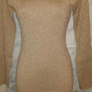 NYC Gold Sweater Dress
